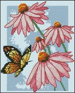 Изображение Бабочки и бутоны (Butterfly and Blossoms)