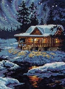 Изображение Домик в лунном свете (Moonlit Cabin)
