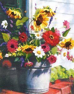 Изображение Корзина цветов (Bucket of Flowers)