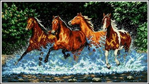 Изображение Бегущие лошади (Galloping Horses)