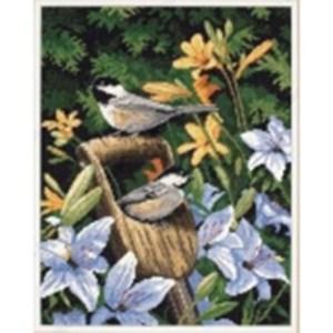 Изображение Синицы и лилии (Chickadees and Lilies)