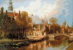 Изображение Амстердам. Старая церковь и Церковьсв. Николая Чудотворца