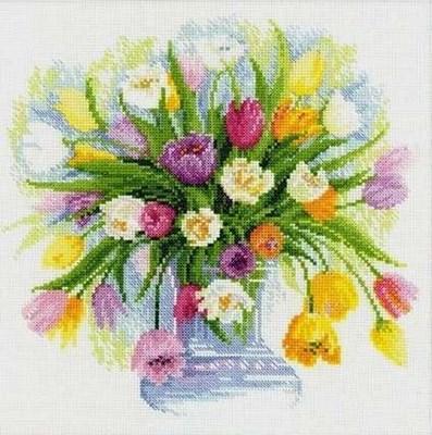 Изображение Акварельные тюльпаны