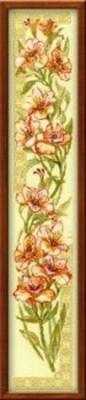 Изображение Альстремерии на кремовой канве
