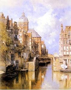 Изображение Амстердам.КаналАудезейтсФорбургвал