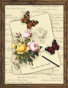 Изображение Бабочки с розами