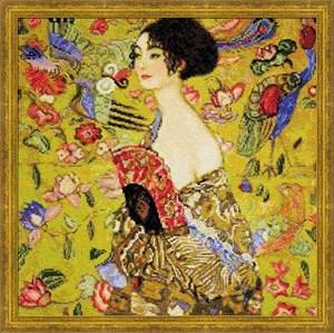 Изображение Дама с веером Г.Климт