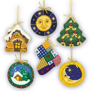 Изображение Набор рождественских игрушек