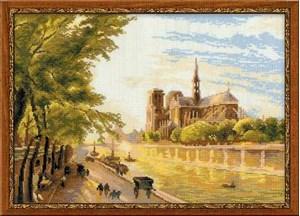 Изображение Собор Парижской Богоматери на острове Сите, вид с набережной Монтебелло* М. Жирарда