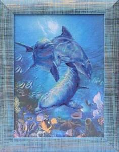 Изображение Три дельфина