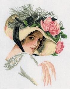 Изображение Девушка в шляпе с розой