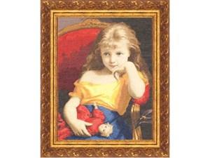 Изображение Девочка с куклой Ф.Зубер-Бюхлер