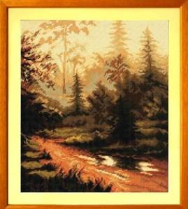 Изображение Закат в лесу