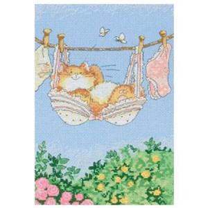 Изображение Кошка и стирка (Cat on washing line)