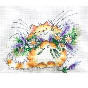 Изображение Цветочный кот (Floral cat)