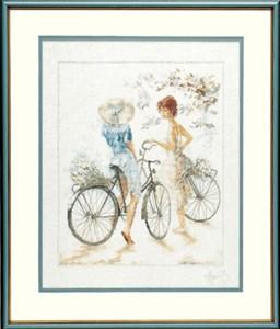 Изображение Велосипедистки (Girls on Bicycle)