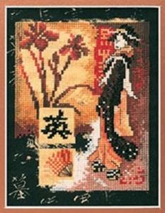 Изображение Гейша и цветы (Geisha and Flower)