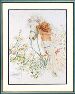 Изображение Лошадь и цветы (Horse & Flowers)