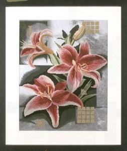 Изображение Композиция из розовых лилий (Composition of pink Lilies)