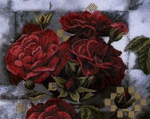 Изображение Красные розы на черном (Red Roоses on Black)