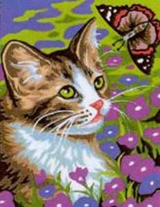 Изображение Котенок с бабочкой