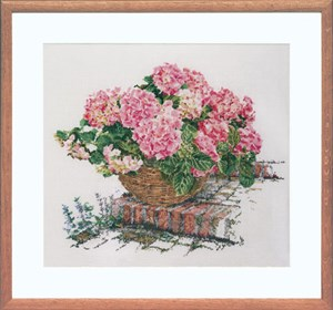 Изображение Розовая гортензия (Pink Hydrangea)