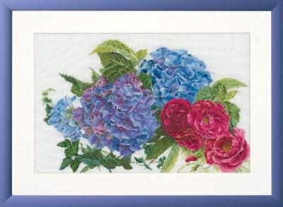 Изображение Гортензия и розы