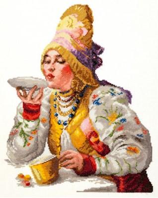 Изображение Боярышня за чаем