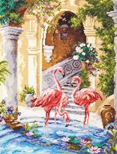 Изображение Розовые фламинго