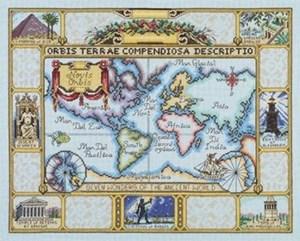 Изображение Карта мира античных чудес (Wonders of the Ancient World Map)