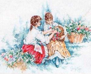 Изображение Две девушки в саду