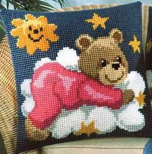 Изображение Мишка в розовом (подушка) (Teddy Red)