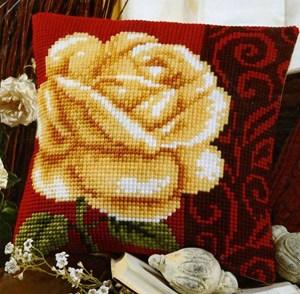 Изображение Белая роза (подушка)
