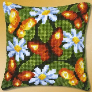 Изображение Бабочки и ромашки (подушка) (Butterflies and Daisies)