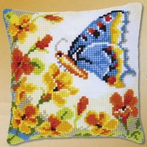 Изображение Бабочка с цветами (подушка) (Butterfly with Flowers)