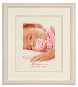 Изображение Сладкие сны дочурке Метрика (Sweet dreams, baby girl)