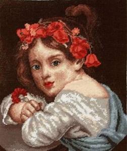 Изображение Девочка в малиновом венке