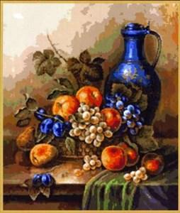 Изображение Натюрморт - голубая ваза