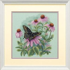 Изображение Бабочка и ромашки (Butterfly and Daisies)