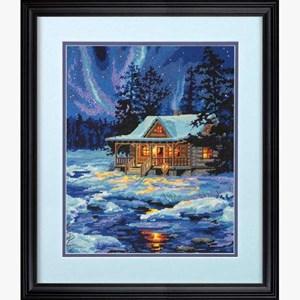 Изображение Избушка под зимним небом (Winter Sky Cabin)