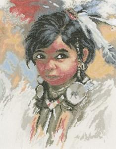 Изображение Индейская девочка (Indian girl)