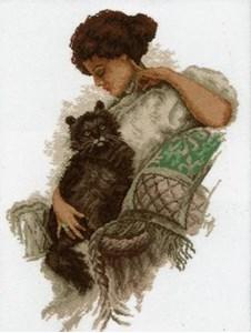 Изображение Девушка с котом