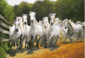 Изображение Бегущие лошади