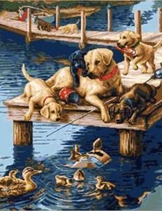 Изображение Собаки и утки