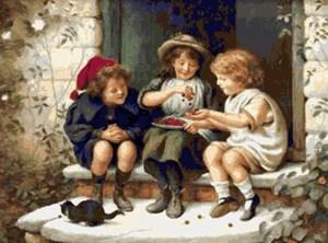 Изображение Дети с вишней