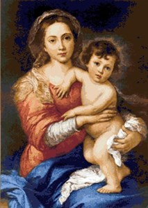 Изображение Мадонна с младенцем Б. Мурильо