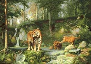 Изображение Тигры в лесу