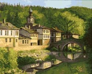 Изображение Пейзаж с мостиком