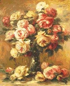 Изображение Ваза с розами Ренуар