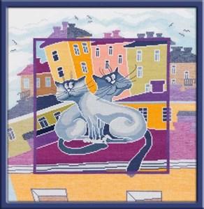 Изображение Коты на крыше 1